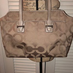 Coach Taylor Op Art Alexis Carryall Tote